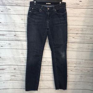 Eileen Fisher distressed cropped hem jeans